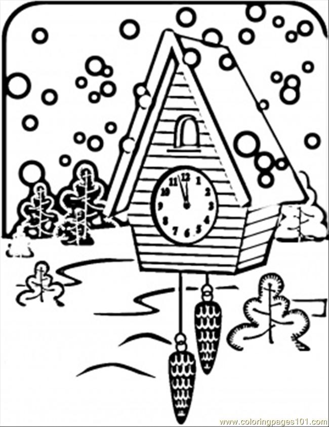 Russian Clock Coloring Page