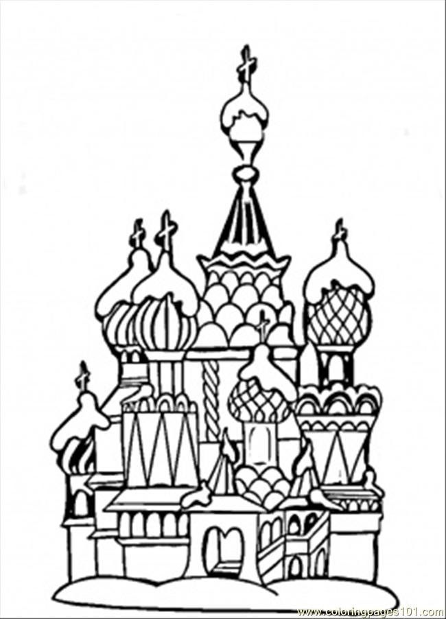 Center Of Moscow Coloring Page