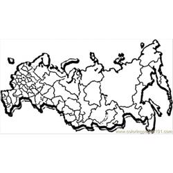 Map Of Great Russia Free Coloring Page for Kids