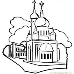 Moscow coloring page