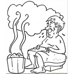 Russian Sauna coloring page