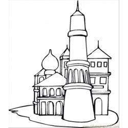 The Kremlin coloring page