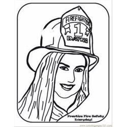 Saftey6 Free Coloring Page for Kids