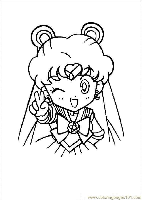 Sailor Moon Coloring Page Free Sailoor Moon Coloring