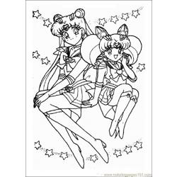 Sailor Moon Free Coloring Page for Kids
