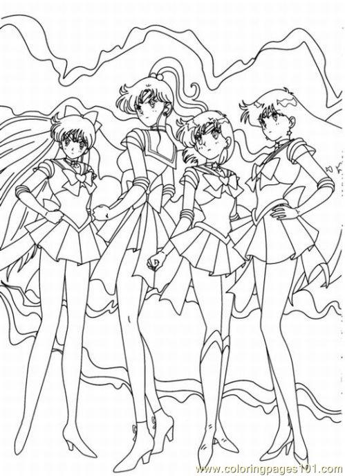 Sailor Moon4 Coloring Page Free Sailor Moon Coloring Pages