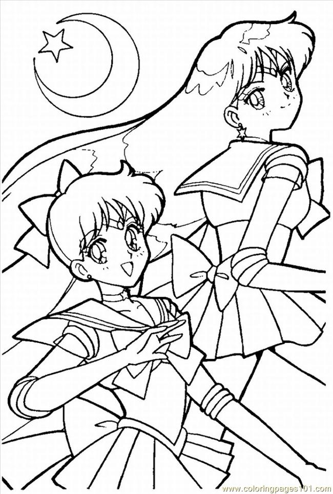Sailor Moon5 Coloring Page Free Sailor Moon Coloring Pages