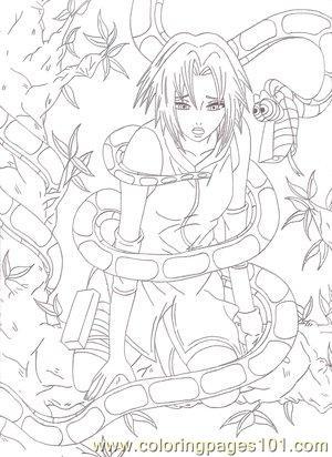 Sakura Haruno By Neoakatsuki Coloring Page  Free Sakura Coloring