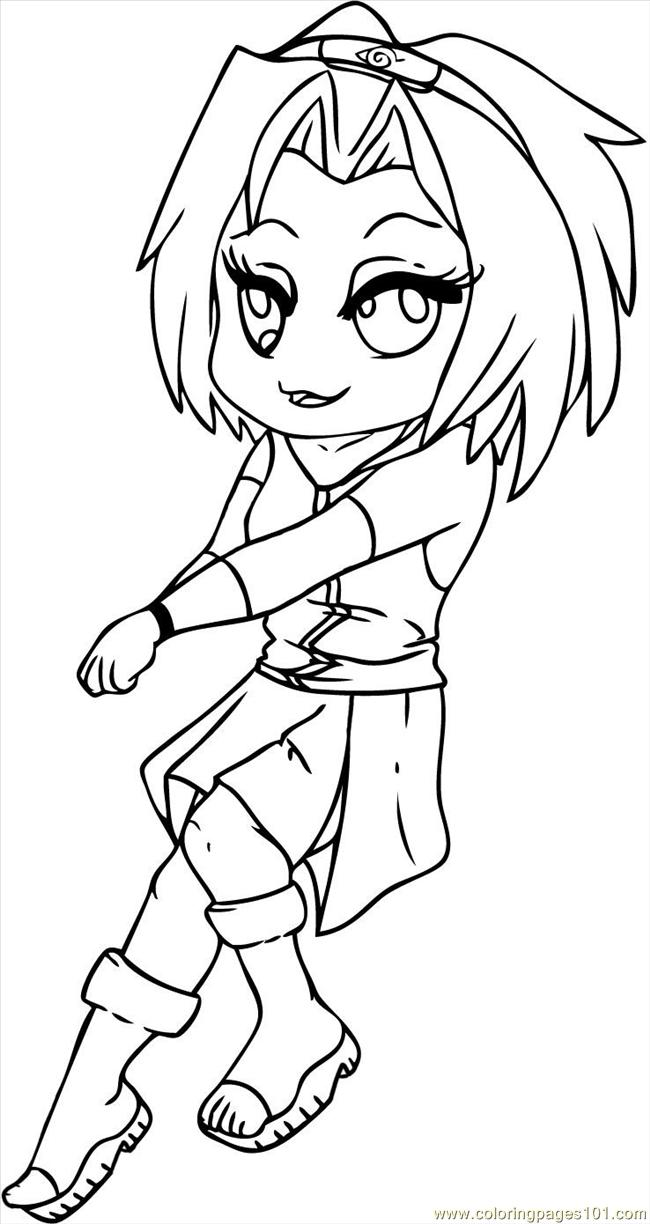 Sakura From Naruto Step 7 Coloring Page