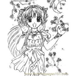 Sakura Wind By Qiaoyisi coloring page