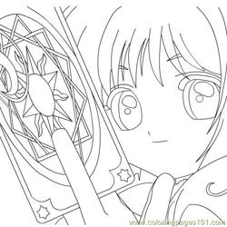 Sakura Card Captor Free Coloring Page for Kids