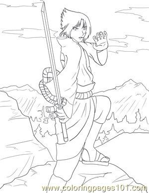 Sasuke Lineart By Sharem Coloring Page