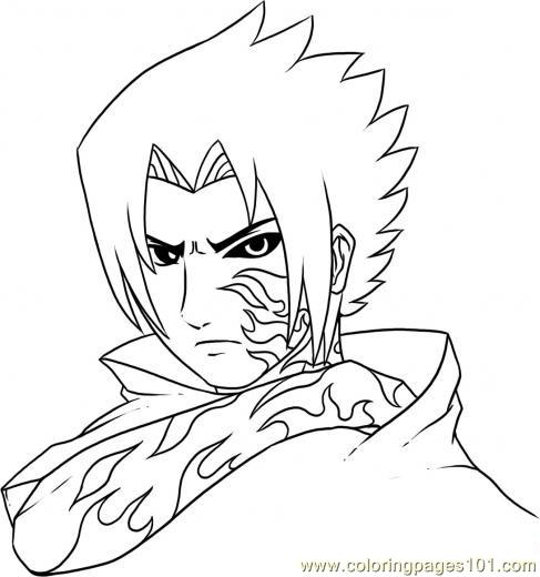 curse mark sasuke coloring page