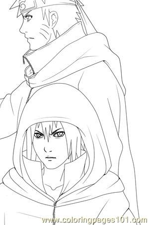 Sasuke N Sasuke By E Nat Coloring Page