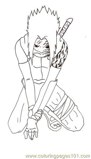 Sasuke Coloring Pages