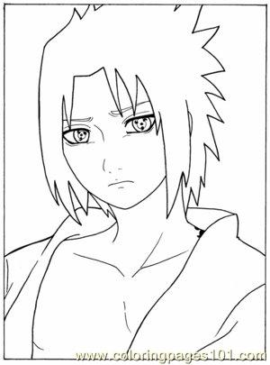 Sasuke Close Up By Fey Rayen Coloring