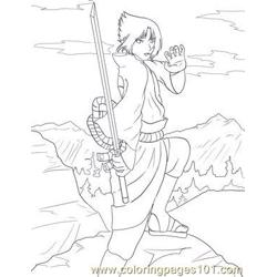 Sasuke Lineart By Sharem Free Coloring Page for Kids