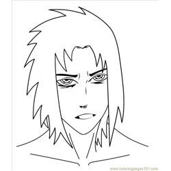 Sasukeuchihaink Free Coloring Page for Kids
