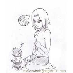 Sasuke Little Cat By Foxi14 Free Coloring Page for Kids