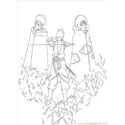 Sasuke Lineart By Wosuko San Free Coloring Page for Kids