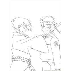 Sasuke By Arya Aiedail Free Coloring Page for Kids