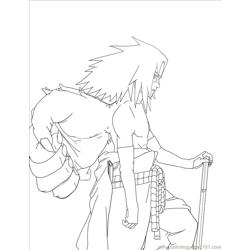 Sasuke Lineart By Sharingandevil Free Coloring Page for Kids