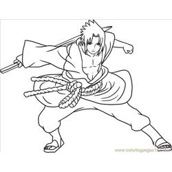 Sasuke Shi Free Coloring Page for Kids