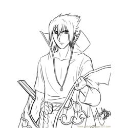 Suke  Lineart  By Yukina Chun Free Coloring Page for Kids