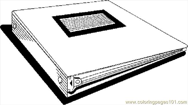 3 Ring Binder Coloring Page - Free School Coloring Pages ...