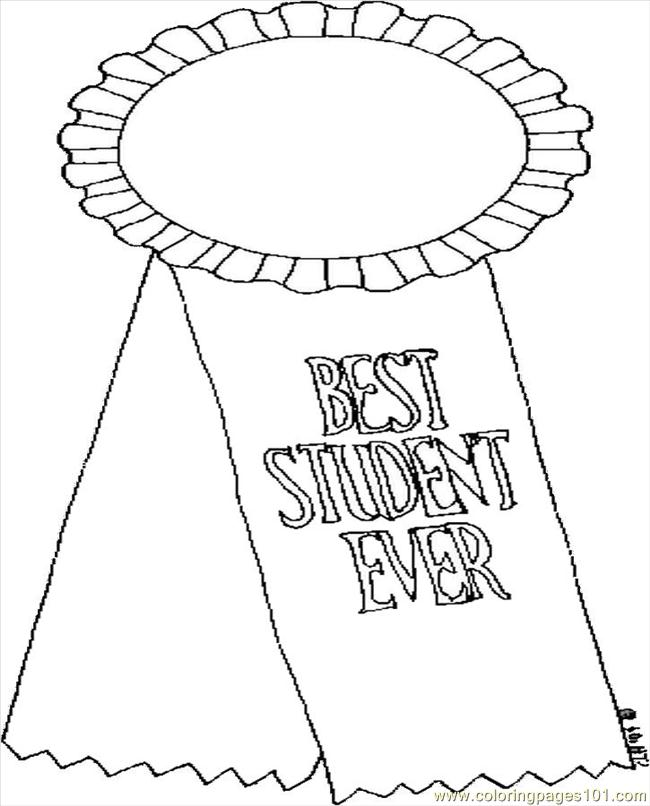 best student ever coloring page - Student Coloring Pages