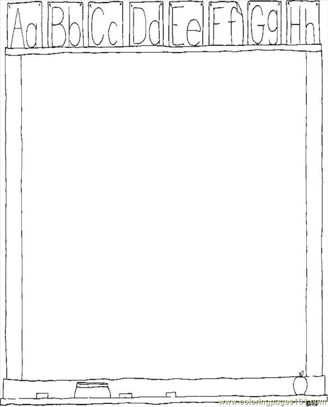 Chalk Board Coloring Page - Free School Coloring Pages ...