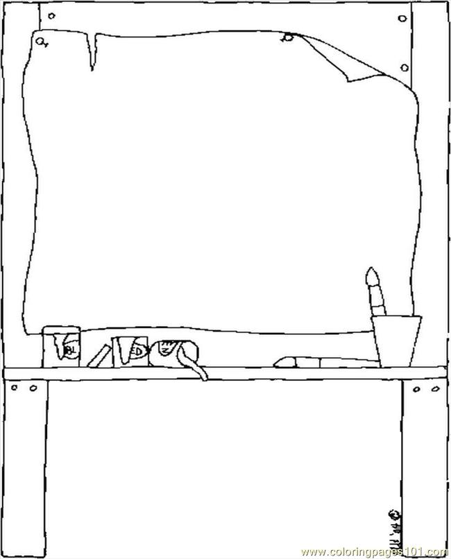 Easel printable coloring page for kids and adults