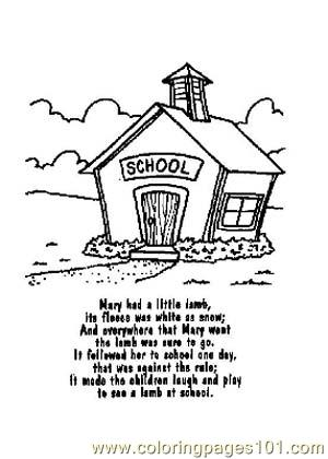 Nursery Rhymes Picture 15 Coloring Page  Free School Coloring