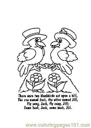 nursery rhymes picture 39 coloring page - Nursery Coloring Pages