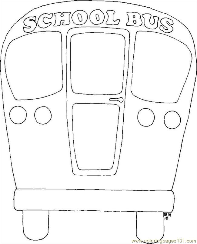 School Bus Coloring Page Free School Coloring Pages