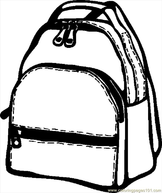 Backpack 07 Coloring Page Free School Coloring Pages