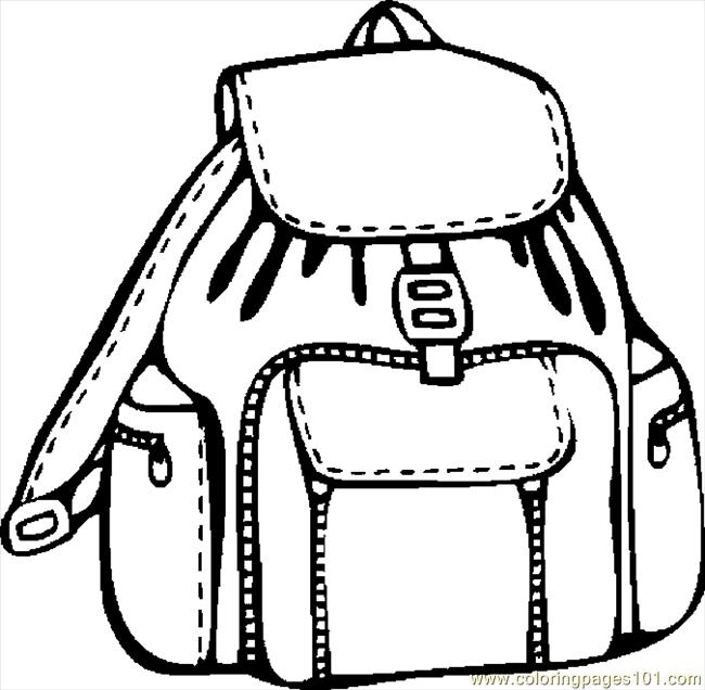 Backpack 08 Coloring Page Free School Coloring Pages
