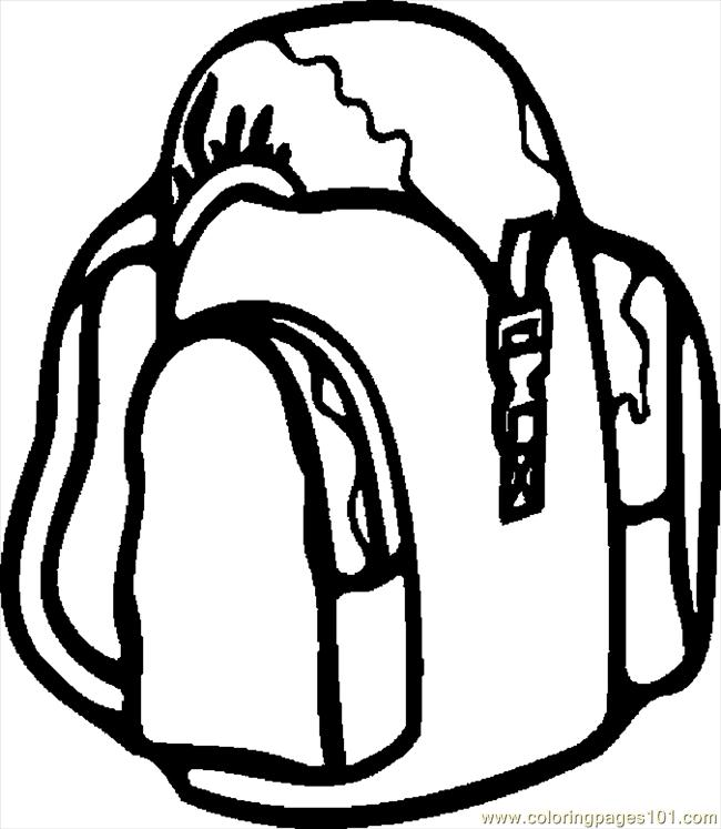 Backpack 09 Coloring Page Free School Coloring Pages