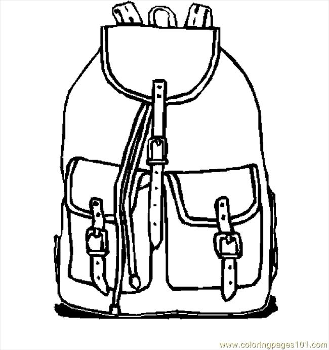 Backpack 10 Coloring Page Free School Coloring Pages