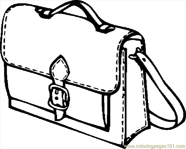 Book Bag Coloring Page