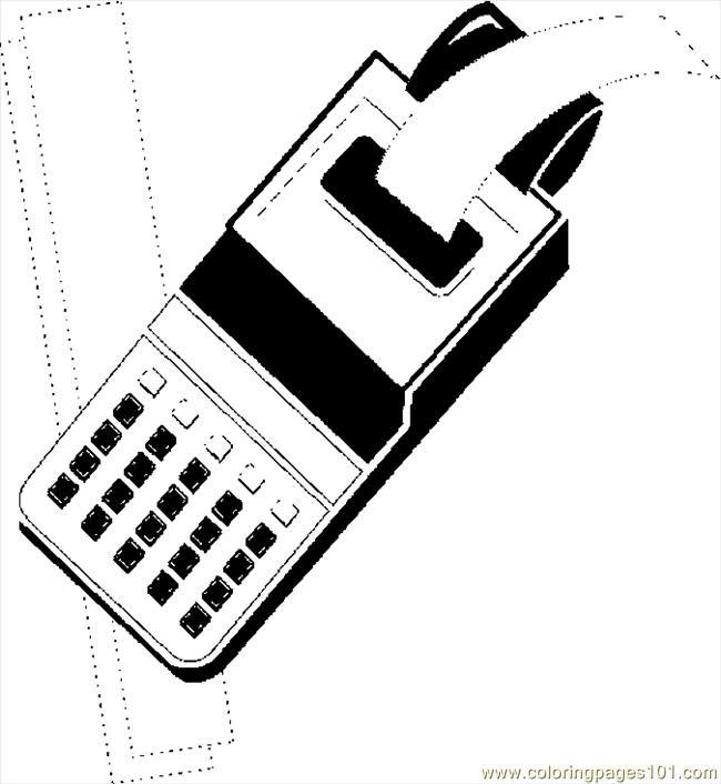 Calculator 1 Coloring Page Free School Coloring Pages