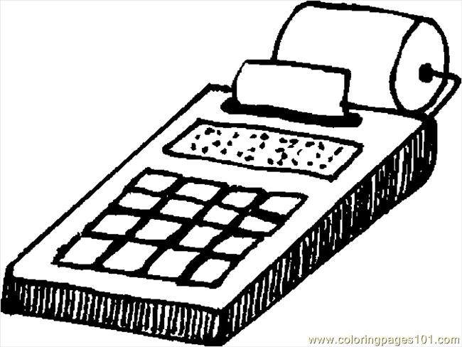 Calculator 4 Coloring Page Free School Coloring Pages