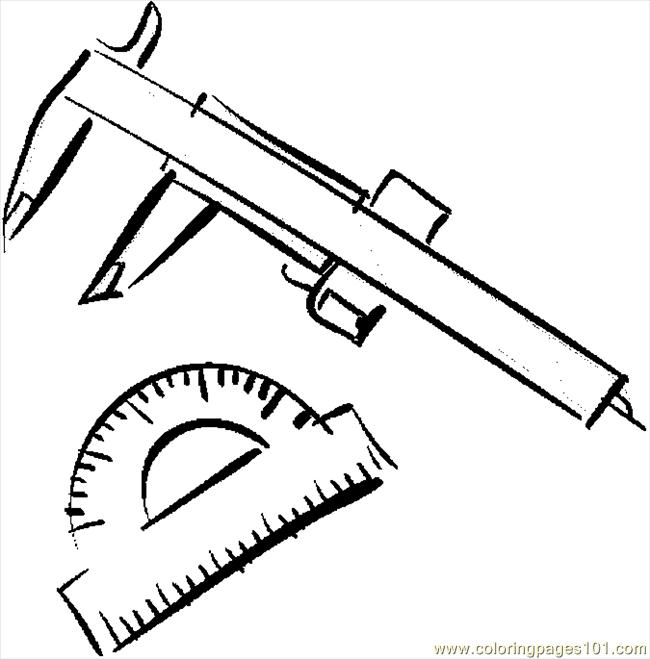 Caliper & Protractor Coloring Page