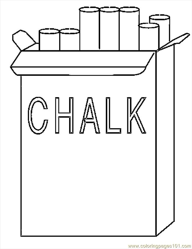 Chalk 1 Coloring Page Free School