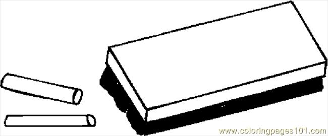 Chalk Eraser 4 Coloring Page Free School Coloring Pages