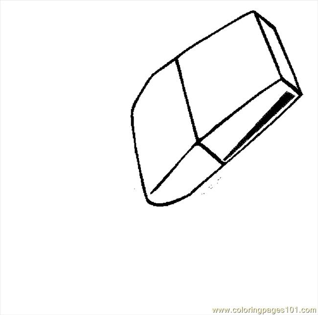 Eraser 01 Coloring Page Free School Coloring Pages