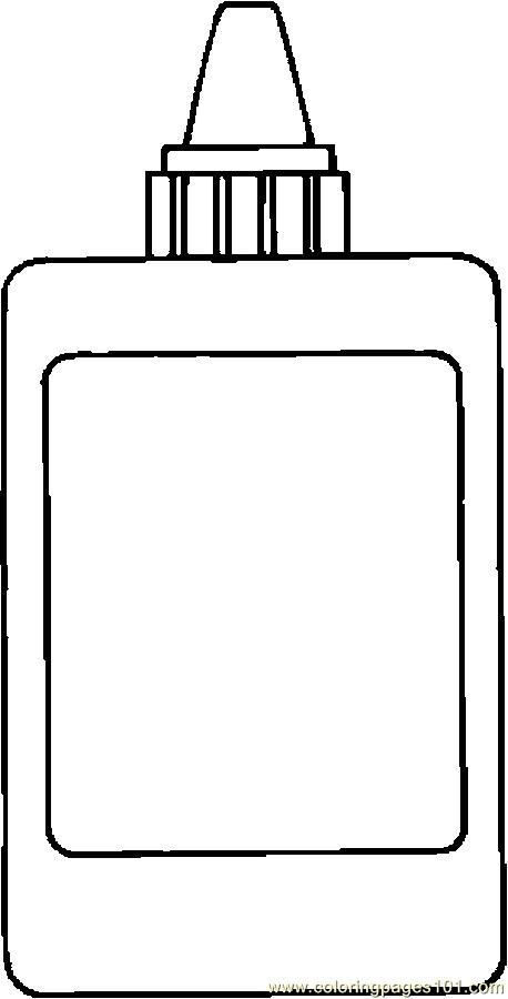 Glue 06 Coloring Page Free School Coloring Pages