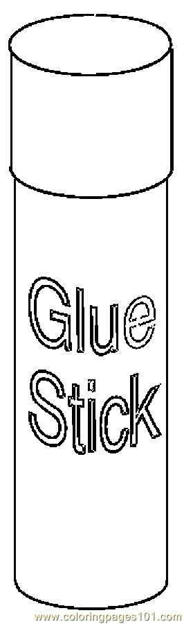 Glue Stick 2 Coloring Page
