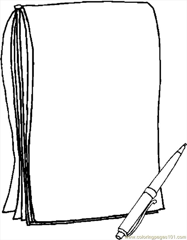 Note Pad Frame Coloring Page - Free School Coloring Pages ...