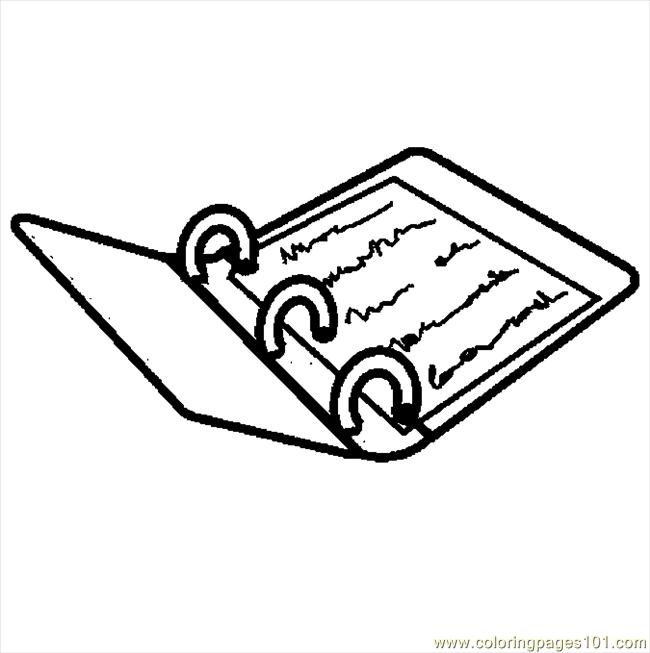Notebook 13 Coloring Page